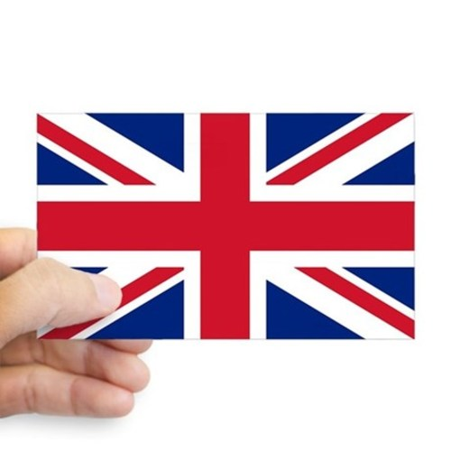 Sticker with british flag the union jack