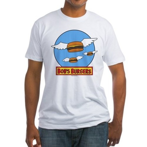 Bobs burgers flying burgers fitted tshirt