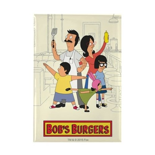 Bobs burger hero family rectangle magnet