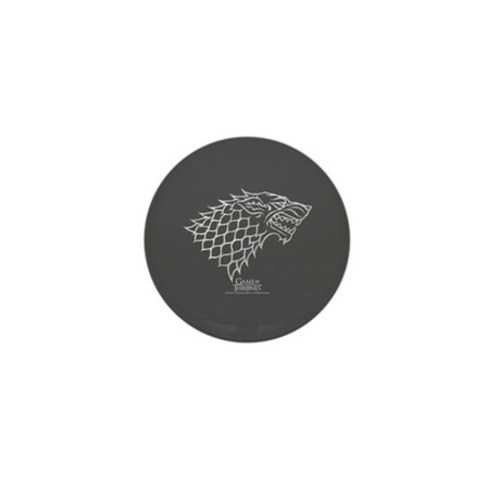 Game of thrones house stark wolf in gr mini button
