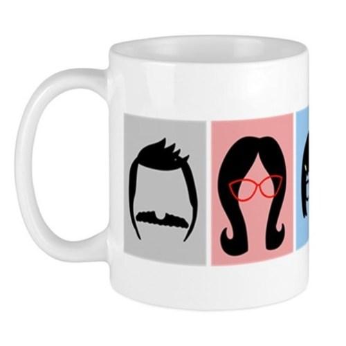Bobs burgers silhouettes mug